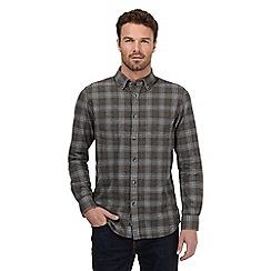 RJR.John Rocha - Big and tall dark grey checked shirt