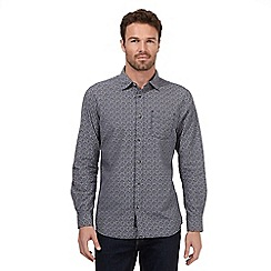 RJR.John Rocha - Navy zig zag on check print shirt