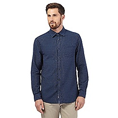 RJR.John Rocha - Big and tall blue textured shirt