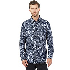 RJR.John Rocha - Big and tall blue origami print shirt