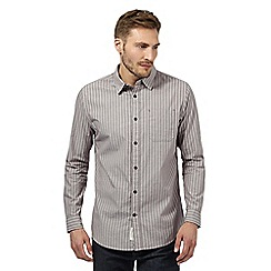 RJR.John Rocha - Big and tall designer plum textured stripe tailored shirt