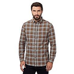 RJR.John Rocha - Big and tall tan check shirt
