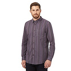 RJR.John Rocha - Big and tall dark purple striped shirt
