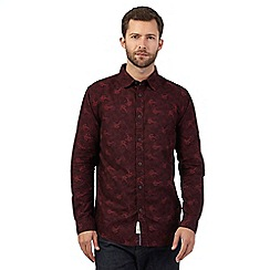 RJR.John Rocha - Dark red floral tailored fit shirt