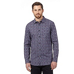 RJR.John Rocha - Big and tall purple leaf tailored shirt