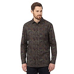 RJR.John Rocha - Big and tall khaki geometric floral shirt