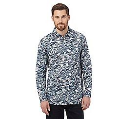 RJR.John Rocha - Green geometric graphic shirt