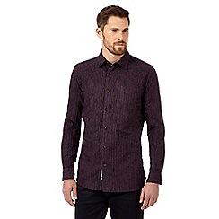 RJR.John Rocha - Big and tall purple textured chenille striped shirt