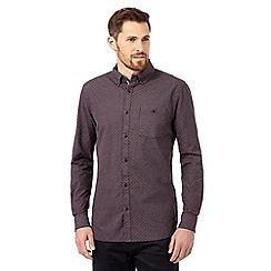 RJR.John Rocha - Big and tall plum geometric print shirt