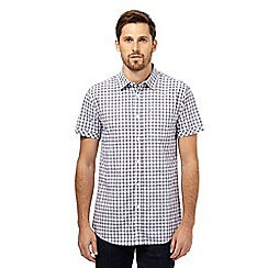 RJR.John Rocha - Big and tall purple checked textured shirt