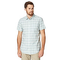 RJR.John Rocha - Big and tall designer pale green checked short sleeved shirt