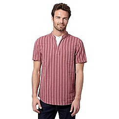 RJR.John Rocha - Big and tall designer red striped kaftan shirt