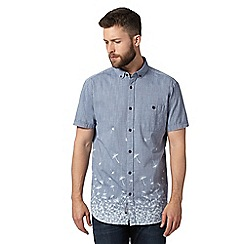 RJR.John Rocha - Big and tall designer blue dandelion hem shirt