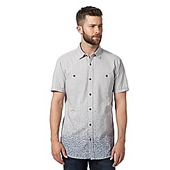 RJR.John Rocha - Big and tall designer light grey spotted hem shirt