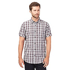 RJR.John Rocha - Big and tall maroon textured check shirt