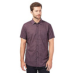 RJR.John Rocha - Big and tall dark purple dotty diamond print shirt