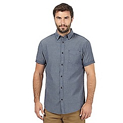 RJR.John Rocha - Big and tall navy textured short sleeved shirt