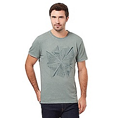 RJR.John Rocha - Green fan in circle print t-shirt