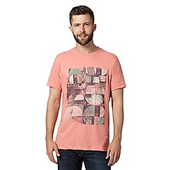 RJR.John Rocha - Big and tall designer peach distressed circle print t-shirt