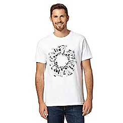 RJR.John Rocha - Designer white paint tube crew neck t-shirt