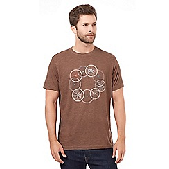 RJR.John Rocha - Big and tall brown bike wheel design t-shirt