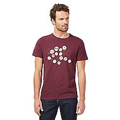 RJR.John Rocha - Dark purple bobbins print t-shirt