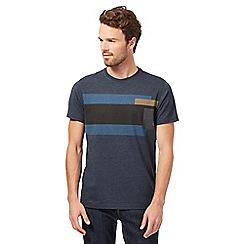RJR.John Rocha - Big and tall navy block striped t-shirt