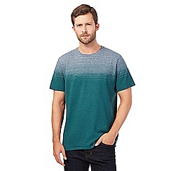 RJR.John Rocha - Dark green ombre striped t-shirt