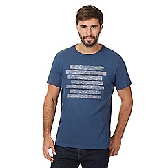 RJR.John Rocha - Big and tall blue applique stripe t-shirt