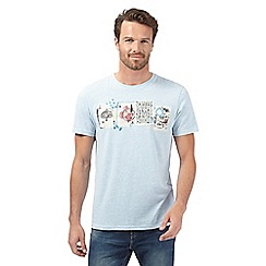 RJR.John Rocha - Light blue playing cards print t-shirt