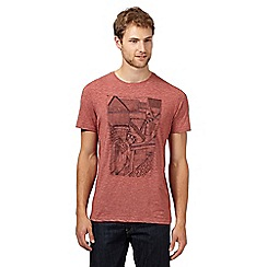 RJR.John Rocha - Big and tall designer red houses print t-shirt