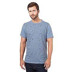 RJR.John Rocha - Blue striped symbol t-shirt