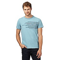 RJR.John Rocha - Big and tall designer turquoise pen squiggle chest t-shirt