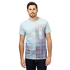 RJR.John Rocha - Big and tall blue square and circle print t-shirt