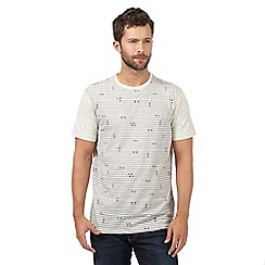 RJR.John Rocha - Natural striped symbol t-shirt