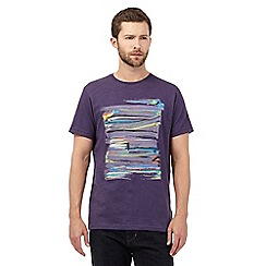 RJR.John Rocha - Big and tall purple paint strokes print t-shirt