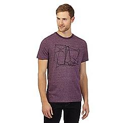 RJR.John Rocha - Big and tall purple cage t-shirt