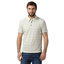 RJR.John Rocha - Big and tall designer off white textured striped polo shirt