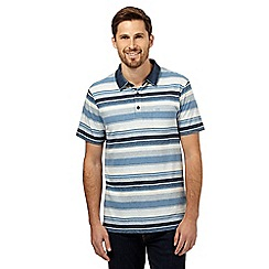 RJR.John Rocha - Blue striped denim collar polo shirt