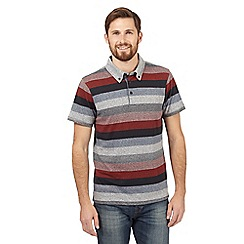 RJR.John Rocha - Red bold striped polo shirt