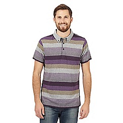 RJR.John Rocha - Purple bold striped polo shirt