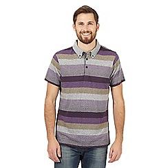 RJR.John Rocha - Purple bold striped polo shirt