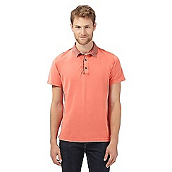 RJR.John Rocha - Big and tall designer coral floral collar polo shirt