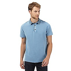 RJR.John Rocha - Big and tall designer blue floral collar polo shirt