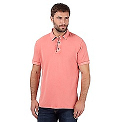 RJR.John Rocha - Big and tall designer red acid wash polo shirt