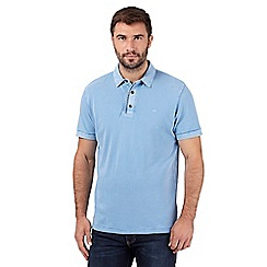 RJR.John Rocha - Big and tall designer blue acid wash polo shirt