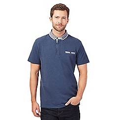 RJR.John Rocha - Big and tall blue double collar pique polo shirt