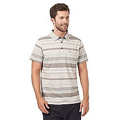 RJR.John Rocha - Big and tall grey striped polo top