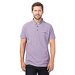 RJR.John Rocha - Lilac double collar pique polo shirt