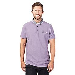 RJR.John Rocha - Lilac double collar pique polo shirt
